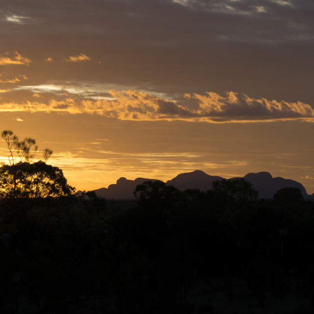 """Northern Territory Sunset - Australia Outback"" stock image"
