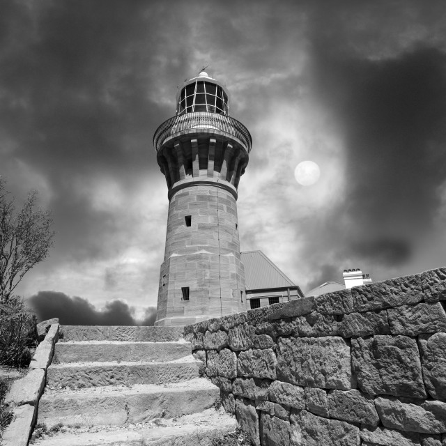"""Barrenjoey Lighthouse Sydney - Palm Beach Australia"" stock image"