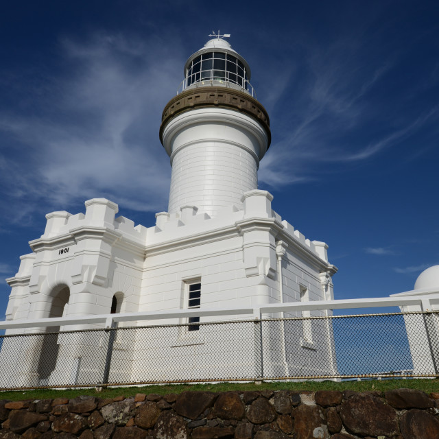 """Lord Byron Lighthouse - Byron Bay Australia"" stock image"
