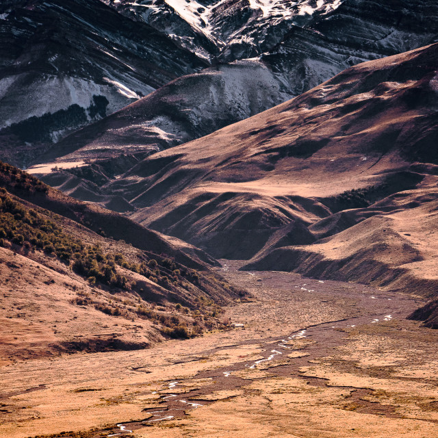 """""""Patagonian levels"""" stock image"""