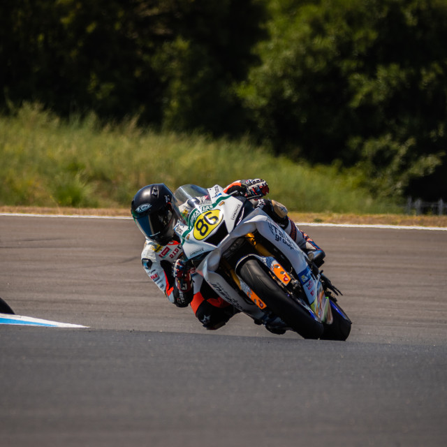 """""""Rider Nicolas Czyba during a free practice of FIM CEV Repsol Estoril 2020"""" stock image"""