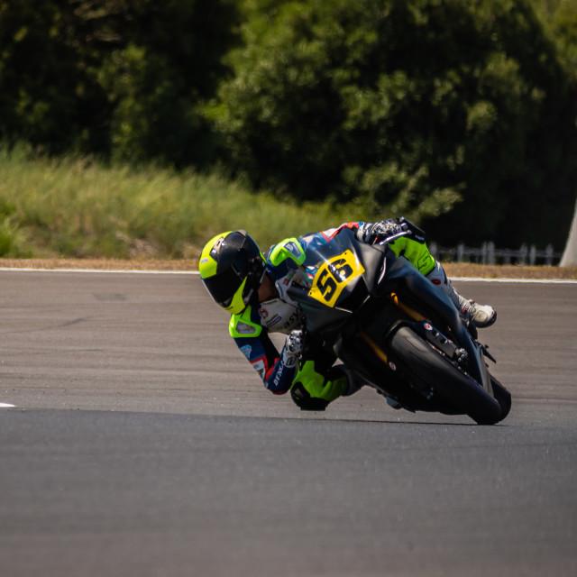 """""""Rider Alex Toledo during a free practice of FIM CEV Repsol Estoril 2020"""" stock image"""