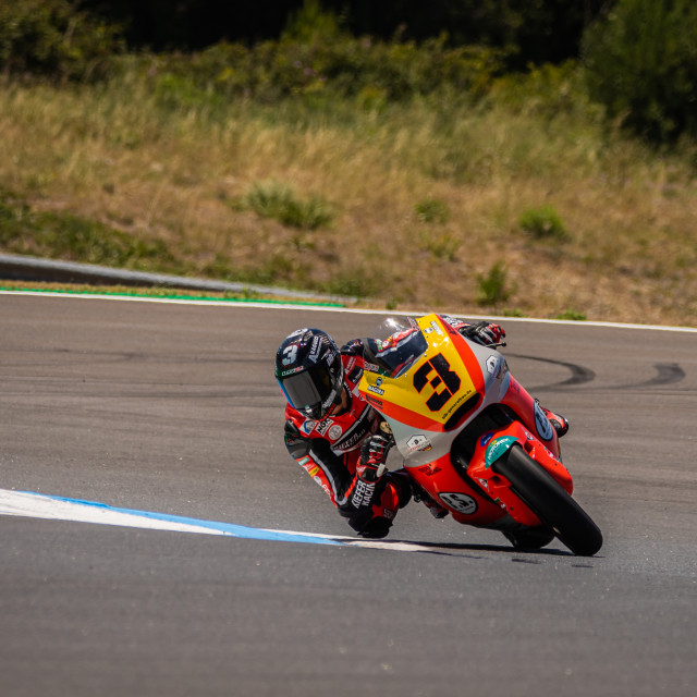 """Rider Lukas Tulovic during a free practice of FIM CEV Repsol Estoril 2020"" stock image"