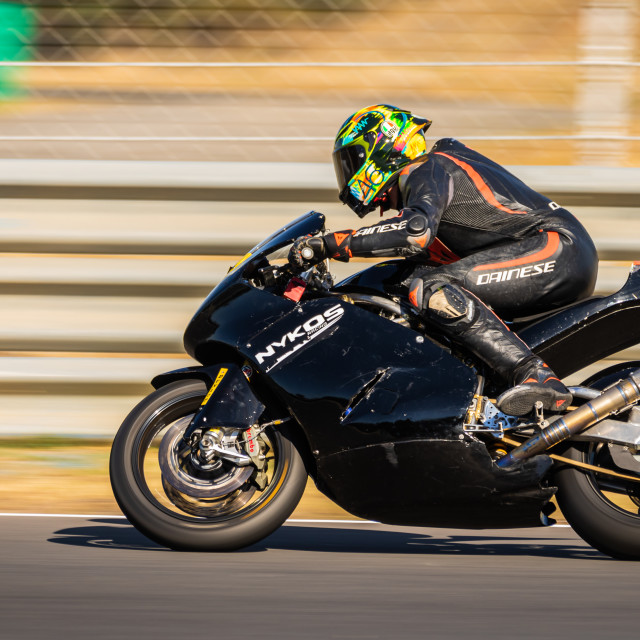 """Rider Connor Funk during a free practice of FIM CEV Repsol Estoril 2020"" stock image"