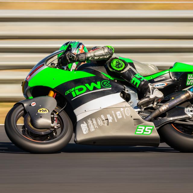 """Rider Sam Wilford during a free practice of FIM CEV Repsol Estoril 2020"" stock image"
