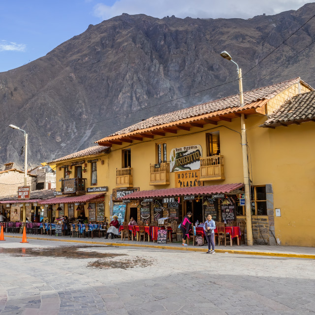 """Main Street, Ollantaytambo, Peru"" stock image"