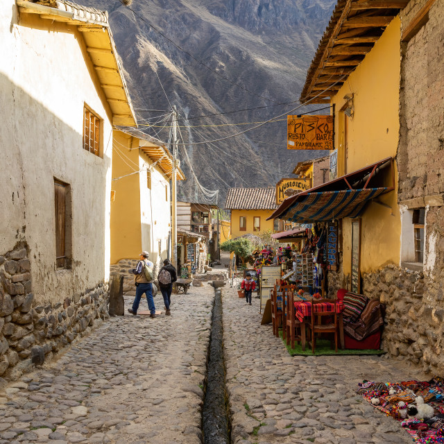 """The Alley, Ollantaytambo, Peru"" stock image"