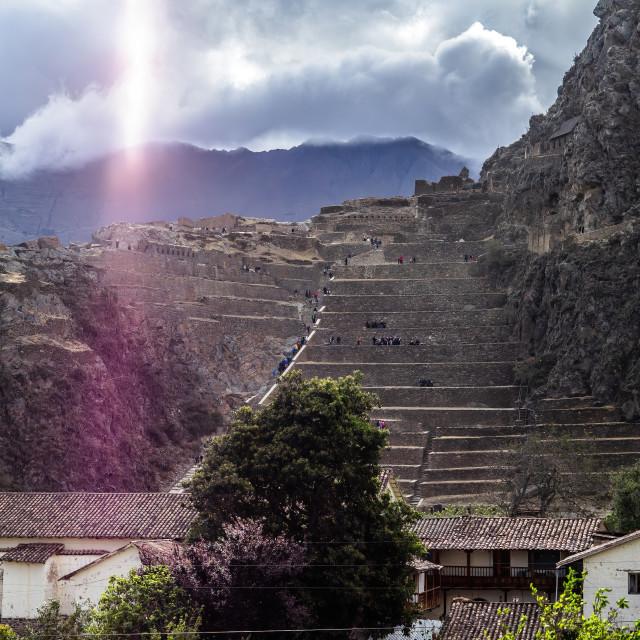 """Inca Fortress, Ollantaytambo, Peru"" stock image"