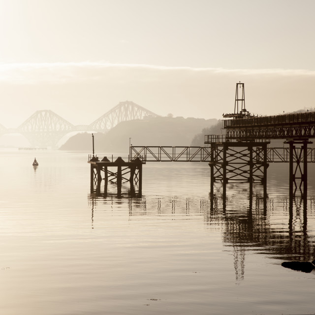 """Forth Rail Bridge, Scotland"" stock image"