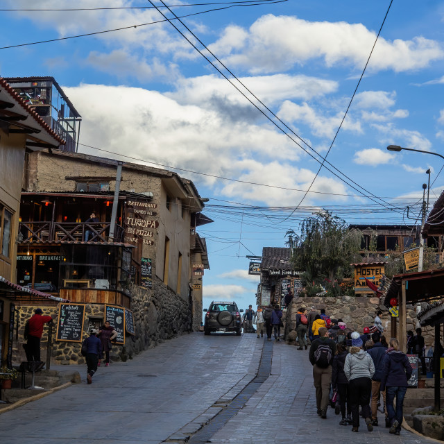 """The Main Street, Ollantaytambo, Peru"" stock image"