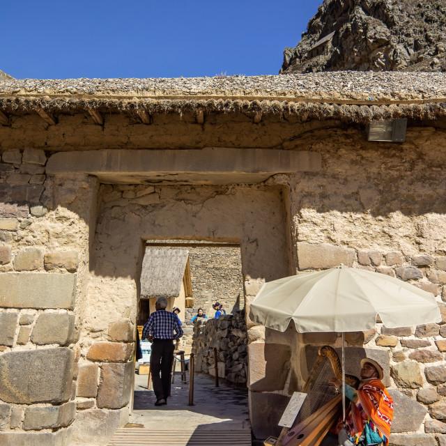 """The Entrance of Ollantaytambo Sanctuary"" stock image"