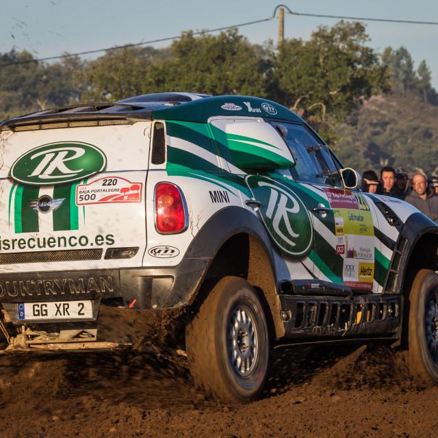 """An off-road car Mini All4Racing during the Baja TT Portalegre 500 2019"" stock image"
