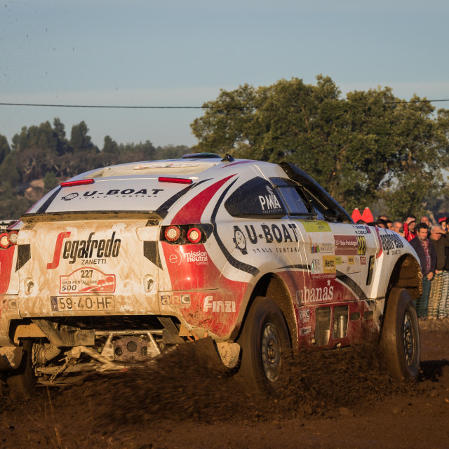"""An off-road car Mitsubishi CCX Proto I during the Baja TT Portalegre 500 2019"" stock image"