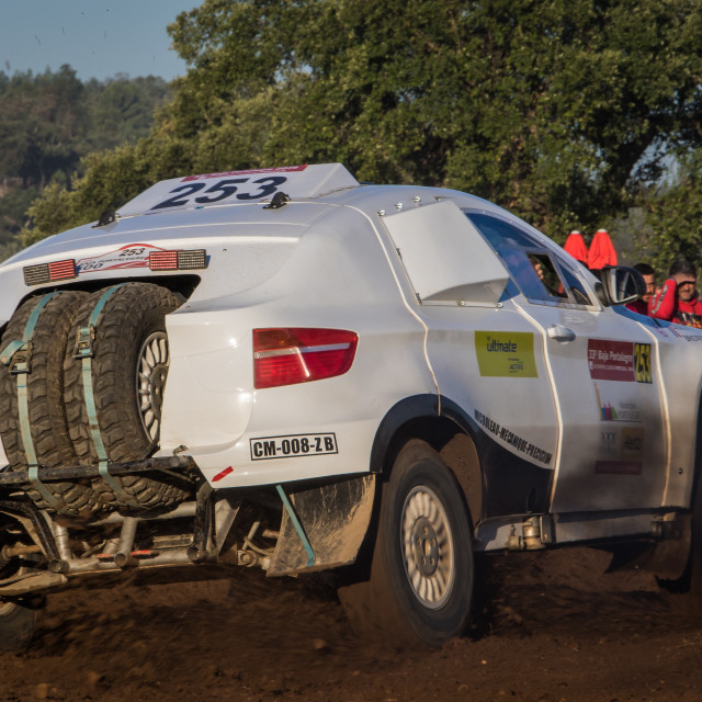 """An off-road car BMW X6 during the Baja TT Portalegre 500 2019"" stock image"