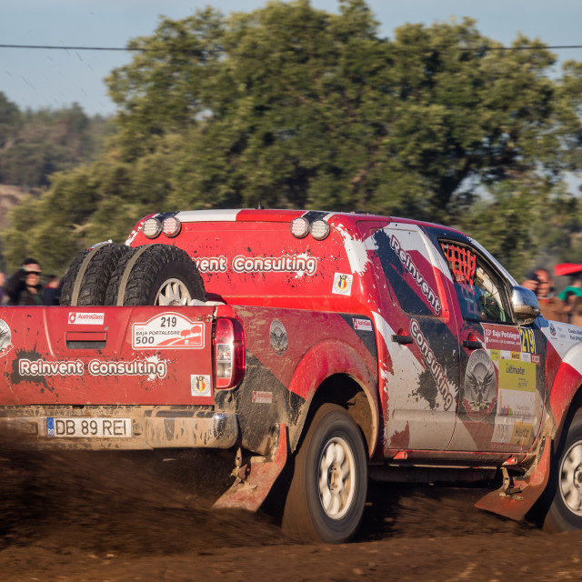 """An off-road car Nissan Navara during the Baja TT Portalegre 500 2019"" stock image"