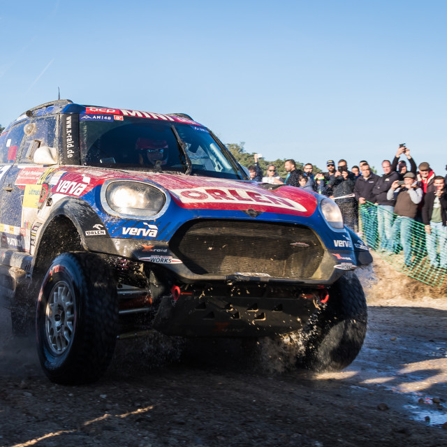 """An off-road car Mini John Cooper Works Rally during the Baja TT Portalegre 500 2019"" stock image"