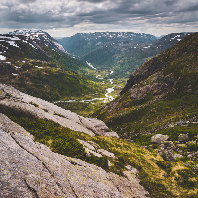 """""""Typical Norwegian Mountain Landscapes"""" stock image"""