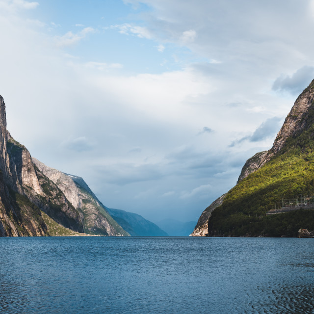 """The Norwegian Fjords"" stock image"