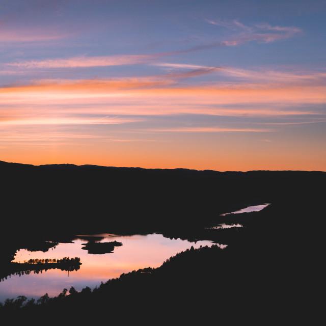"""Norwegian Lakes Sunsets"" stock image"