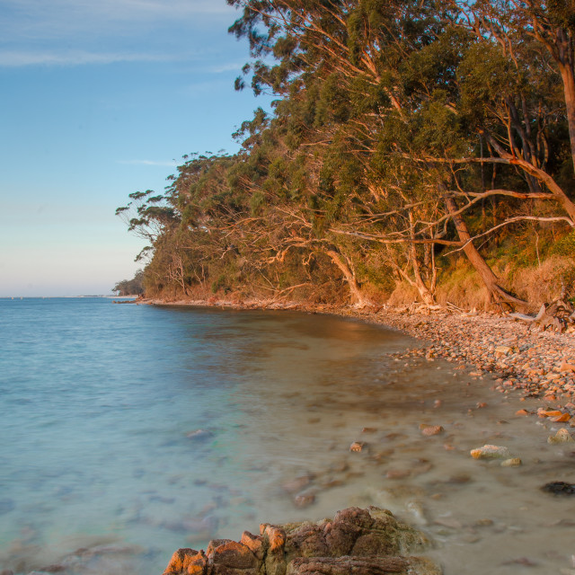 """Sunset at Nelson Bay, Australia"" stock image"