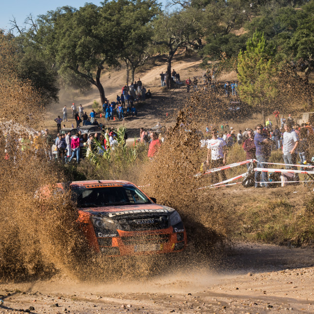 """An off-road car Isuzu D-Max during the Baja TT Portalegre 500 2019"" stock image"