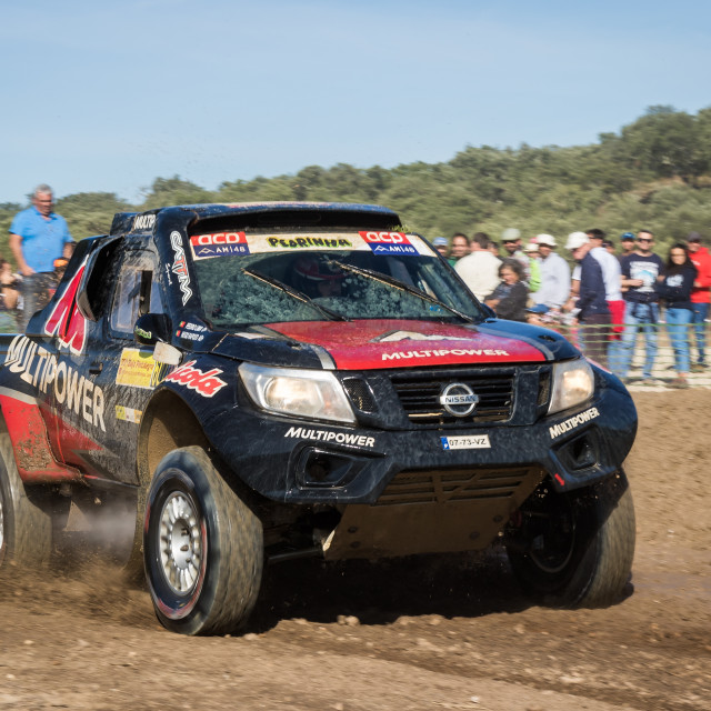 """An off-road car Nissan Navara during the Baja TT Portalegre 500 2019\"" stock image"