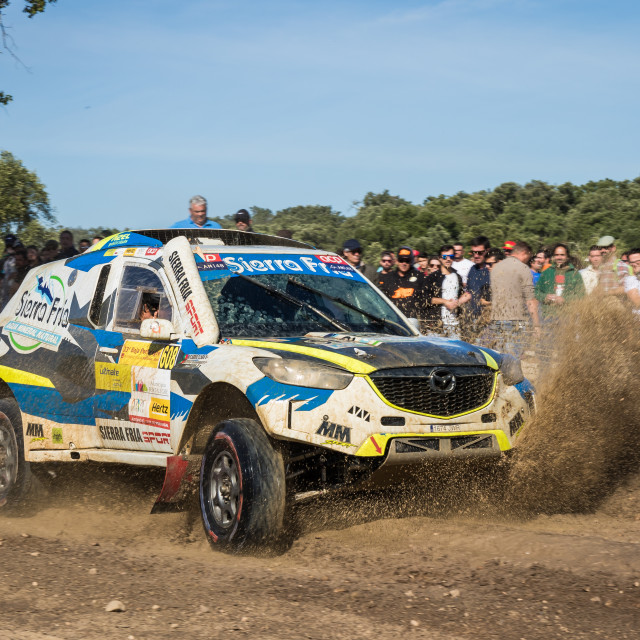 """An off-road car Mazda CX5 Proto during the Baja TT Portalegre 500 2019"" stock image"