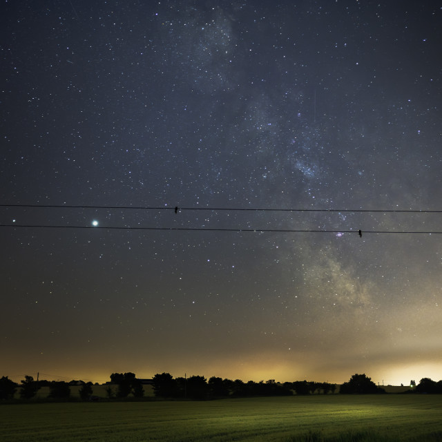 """Milky Way Over Kents Hill Thorpe"" stock image"