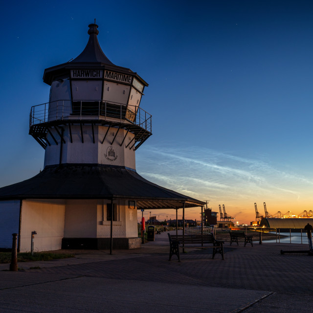 """""""Harwich Maritime Museum Noctilucent Clouds"""" stock image"""