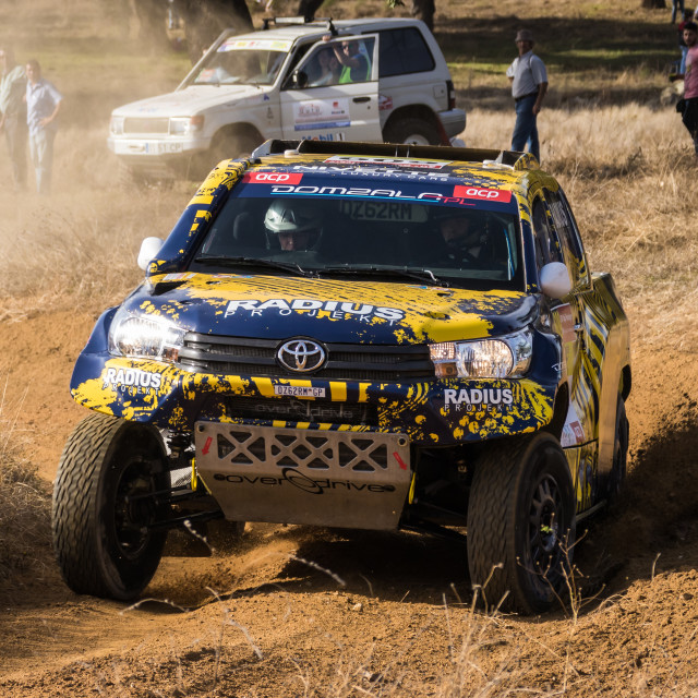"""An off-road car Toyota Hilux Oerdrive during the Baja TT Portalegre 500 2016"" stock image"