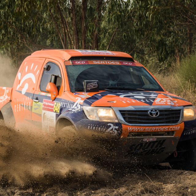 """An off-road car Toyota pick-up the Baja TT Portalegre 500 2016"" stock image"