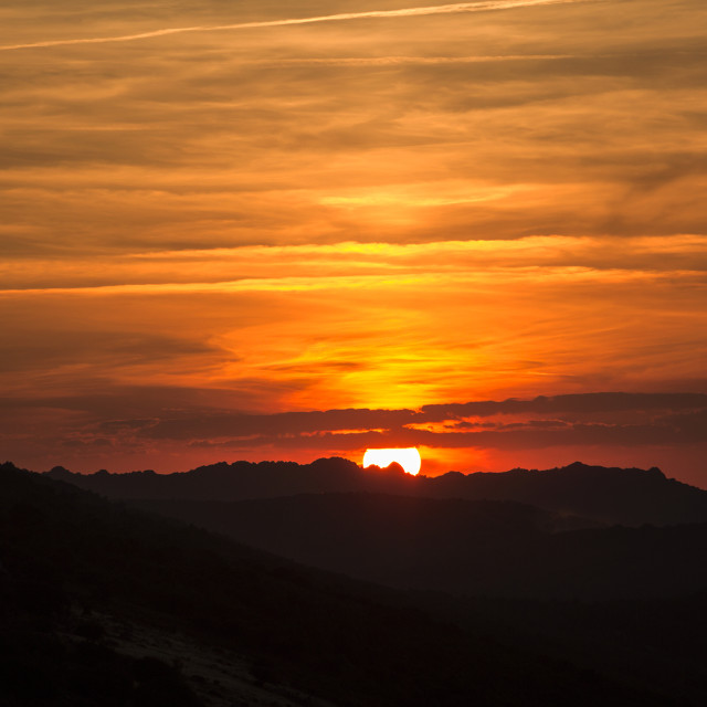 """Sundown"" stock image"