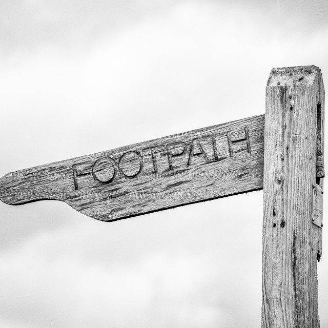 """Footpath."" stock image"