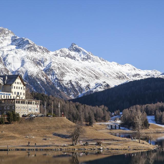 """St Moritz, Switzerland"" stock image"