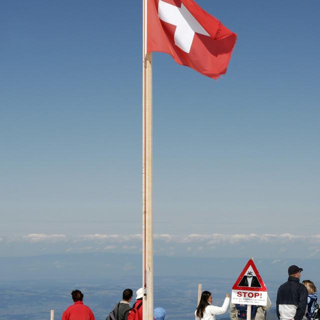 """""""Jungfraujoch, Switzerland"""" stock image"""