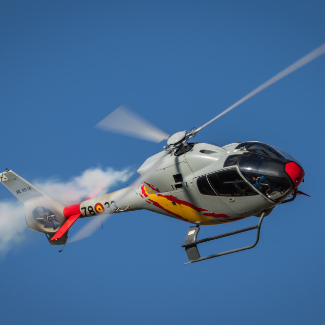 """""""Military helicopter EC120 Colibri of the Spanish Air Force"""" stock image"""