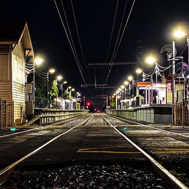 """Railway Station"" stock image"