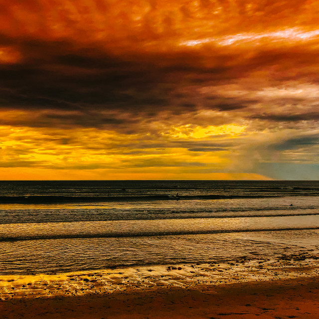"""""""Sunset over the ocean"""" stock image"""