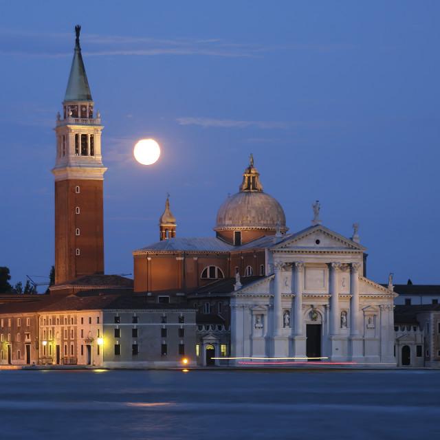 """""""Church of San Giorgio Maggiore, Venice"""" stock image"""