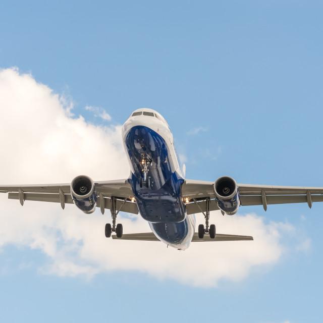 """passenger jet landing"" stock image"