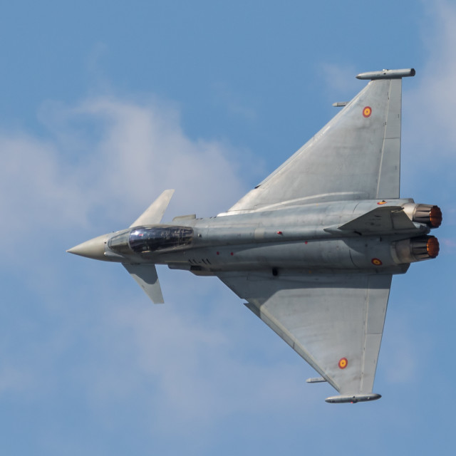 """""""Eurofighter Typhoon jet fighter of the Spanish Air Force"""" stock image"""