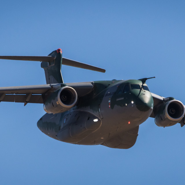 """""""Transport aircraft Embraer KC-390 of the Brazilian Air Force"""" stock image"""