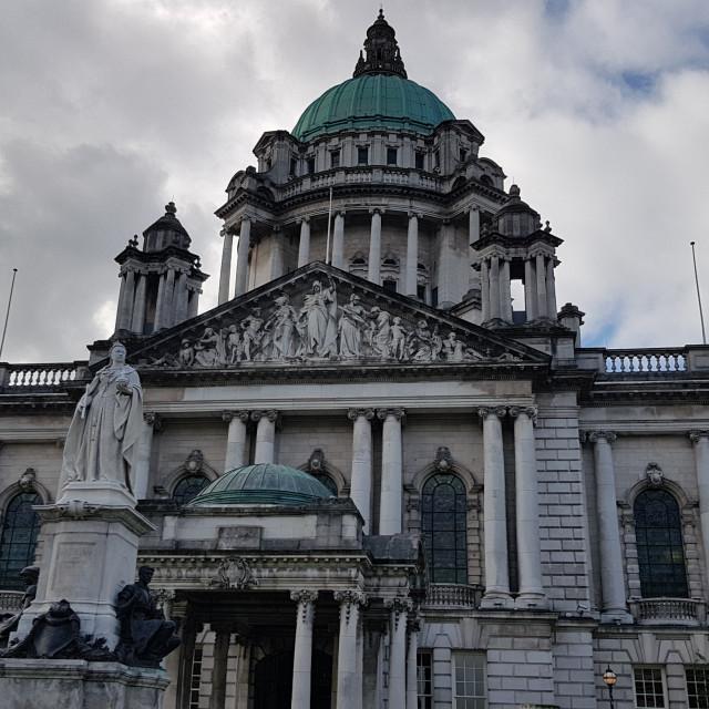 """Belfast City Hall"" stock image"