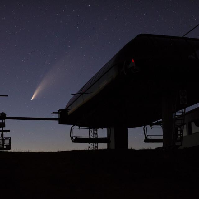"""Neowise comet (C/2020 F3)"" stock image"