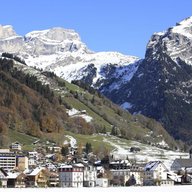 """Engleberg, Switzerland"" stock image"