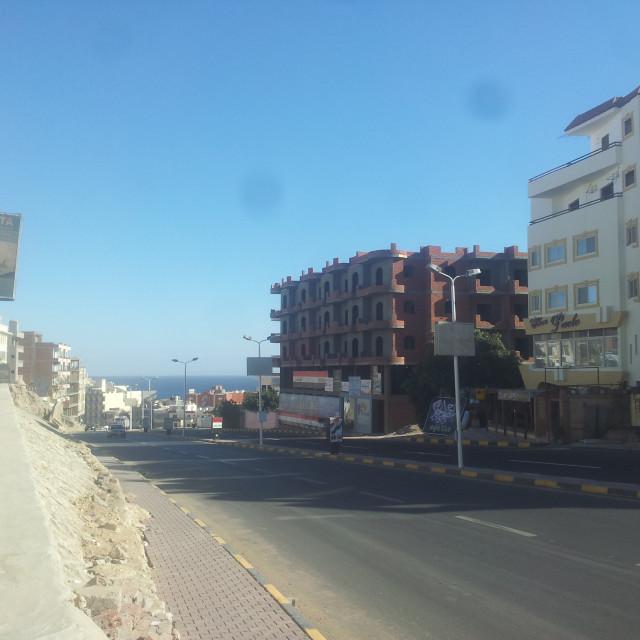 """Street of Hrgada"" stock image"