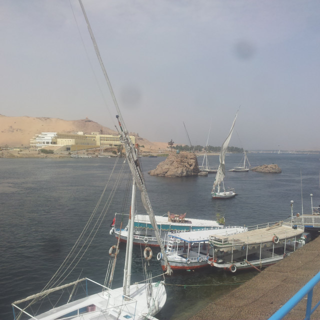 """Harbor port on the Nile"" stock image"
