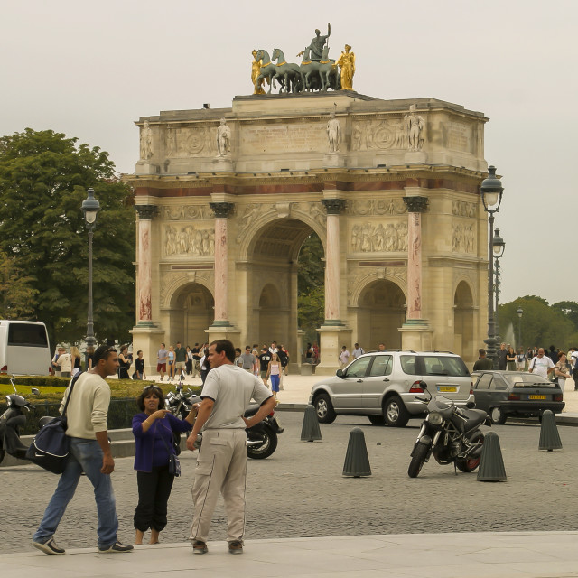 """Arc de Triomphe du Carrousel, Paris"" stock image"