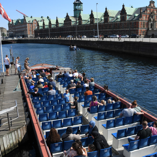 """Canal tours Copenhagen is back in toruism business covid-19"" stock image"