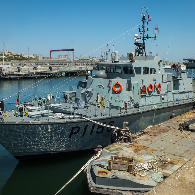 """""""Inspection boat NRP Oríon of the Portuguese Navy"""" stock image"""